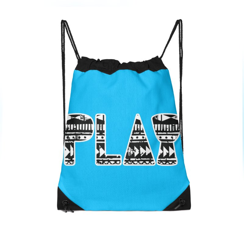 PLAY Accessories Drawstring Bag Bag by DJEMBEFOLEY Shop