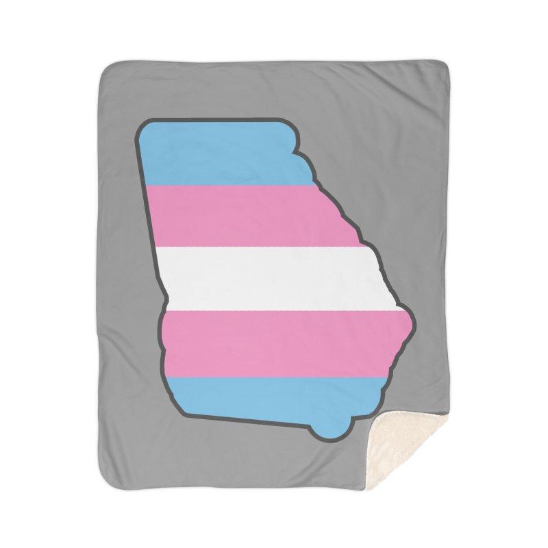 GA Trans Pride 2019 Home Sherpa Blanket Blanket by ATL Geek Merch Shop