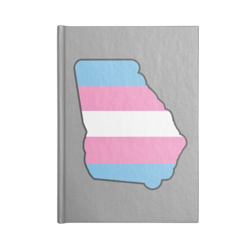 GA Trans Pride 2019 Accessories Lined Journal Notebook by ATL Geek Merch Shop