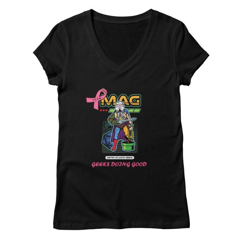TEAM MAG 2019 Women's V-Neck by ATL Geek Merch Shop