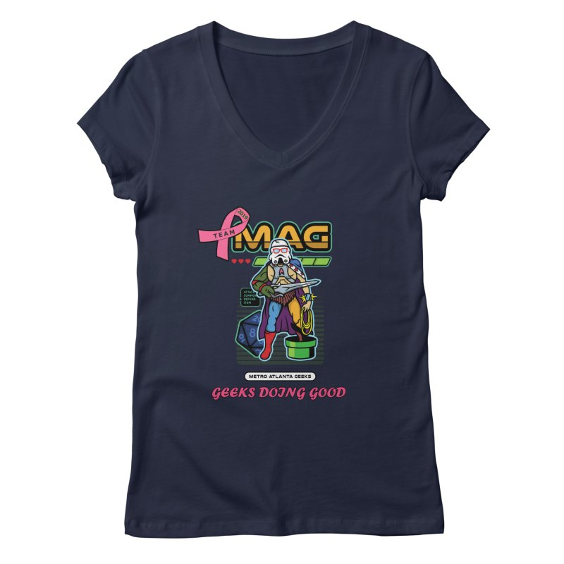TEAM MAG 2019 Women's Regular V-Neck by ATL Geek Merch Shop