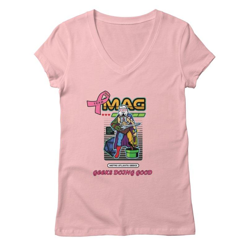 TEAM MAG 2019 Women's Regular V-Neck by ATL Geek Merch Shop