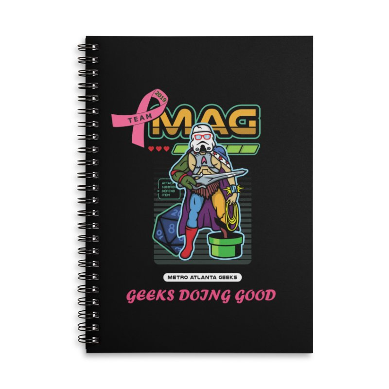 TEAM MAG 2019 Accessories Lined Spiral Notebook by ATL Geek Merch Shop