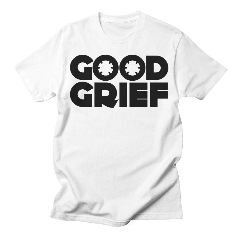 DJ Good Grief - Basic White T-Shirt Men's T-Shirt by World Of Goodness