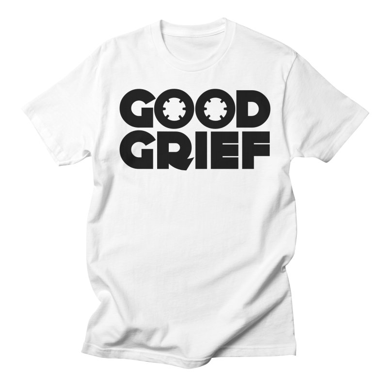 DJ Good Grief - Basic White T-Shirt Men's T-Shirt by World Of Goodness