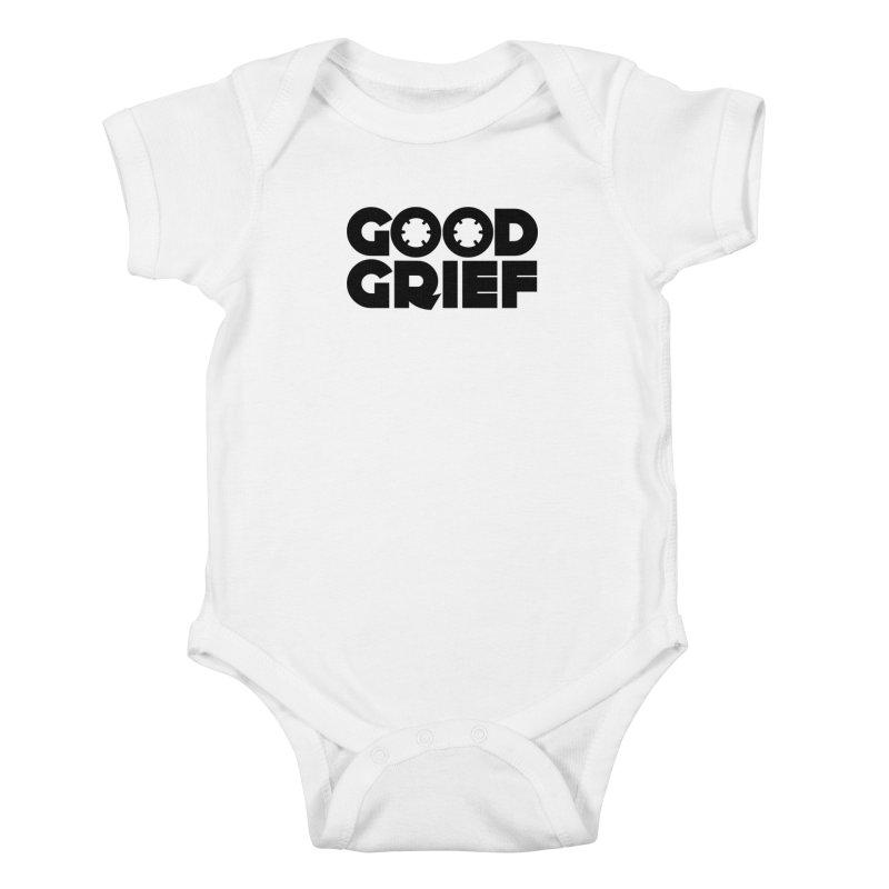 DJ Good Grief - Basic White T-Shirt Kids Baby Bodysuit by World Of Goodness