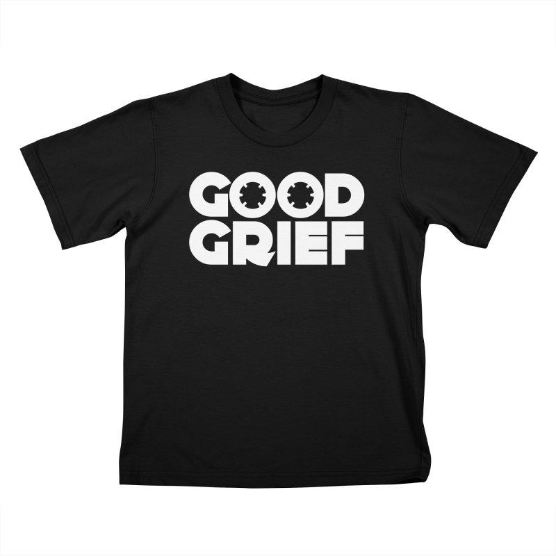 Dj Good Grief - Basic Black T-Shirt Kids T-Shirt by World Of Goodness