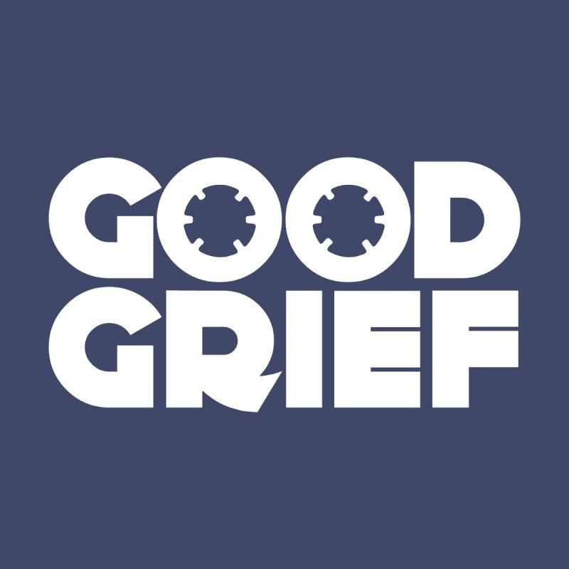 Dj Good Grief Navy Blue T-Shirt Kids T-Shirt by World Of Goodness