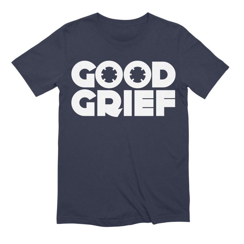 Dj Good Grief Navy Blue T-Shirt Men's T-Shirt by World Of Goodness
