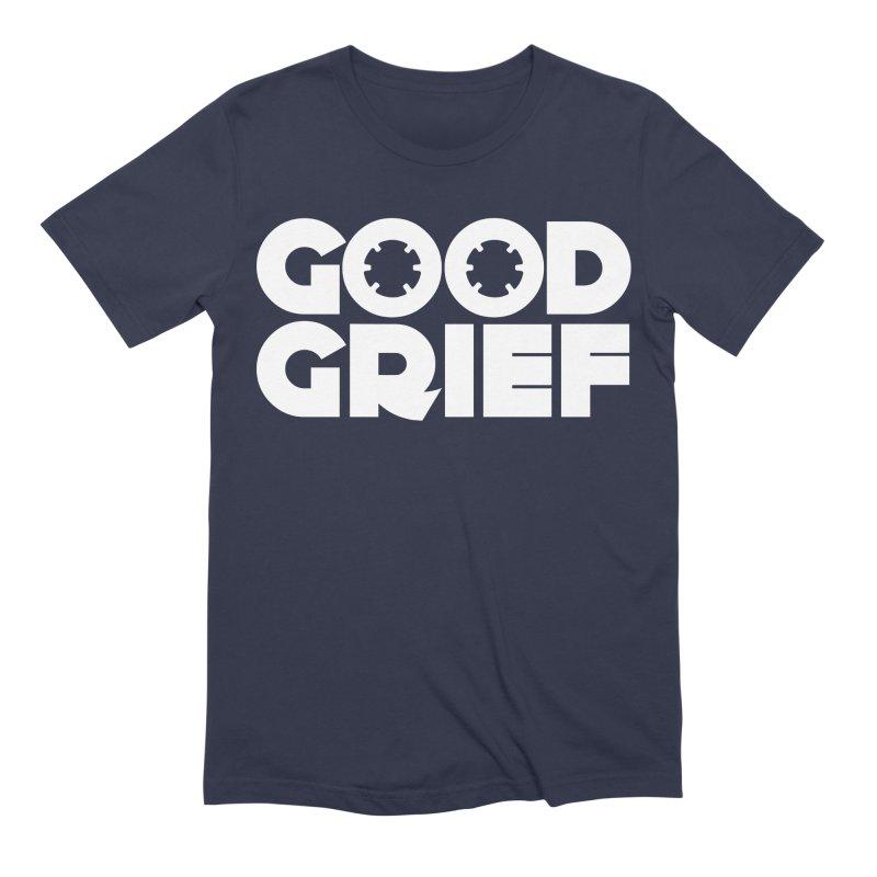Dj Good Grief Navy Blue T-Shirt Men's T-Shirt by World Of Goodness