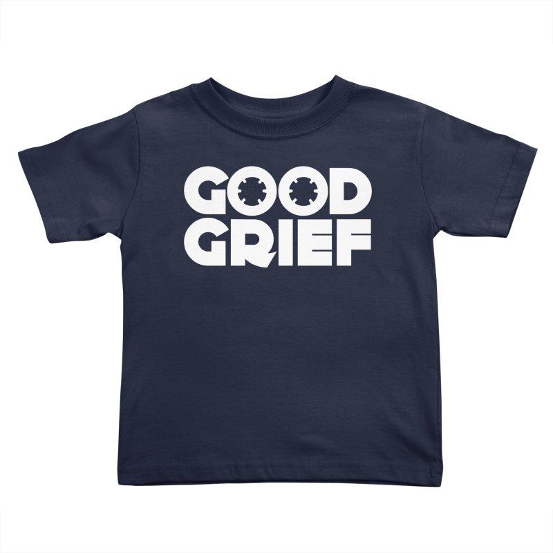 Dj Good Grief Navy Blue T-Shirt Kids Toddler T-Shirt by World Of Goodness