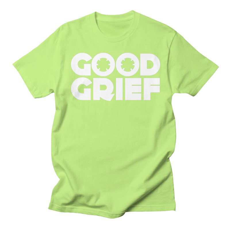 DJ Good Grief Neon Green T-Shirt Men's T-Shirt by World Of Goodness