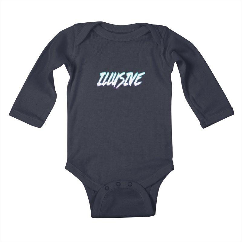 Illusive Logo Kids Baby Longsleeve Bodysuit by djillusive's Artist Shop