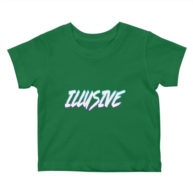 Illusive Logo Kids Baby T-Shirt by djillusive's Artist Shop