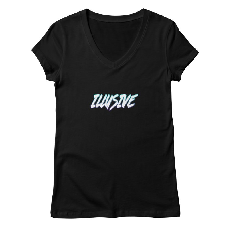 Illusive Logo Women's V-Neck by djillusive's Artist Shop