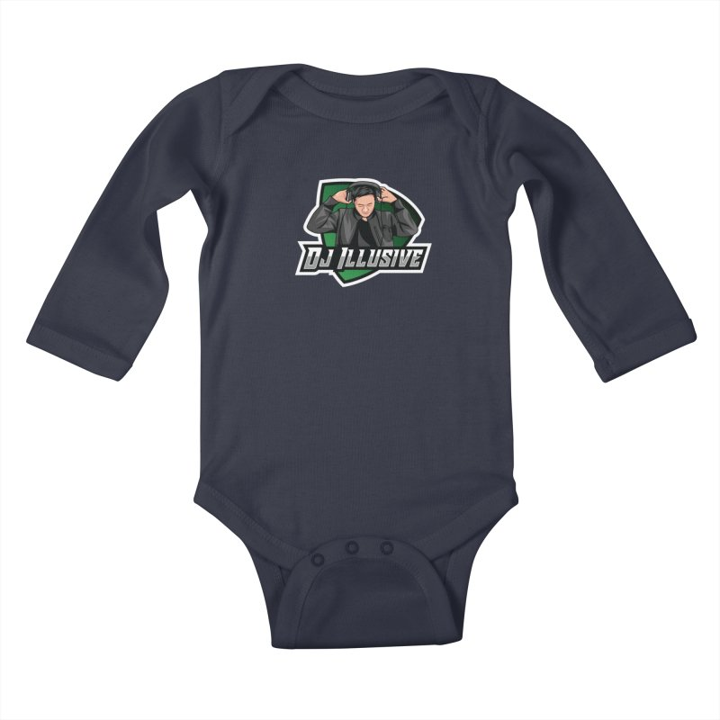 Dj Illusive Gamer Logo Kids Baby Longsleeve Bodysuit by djillusive's Artist Shop