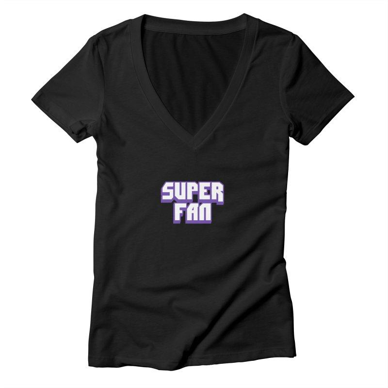 Superfan Women's V-Neck by djillusive's Artist Shop