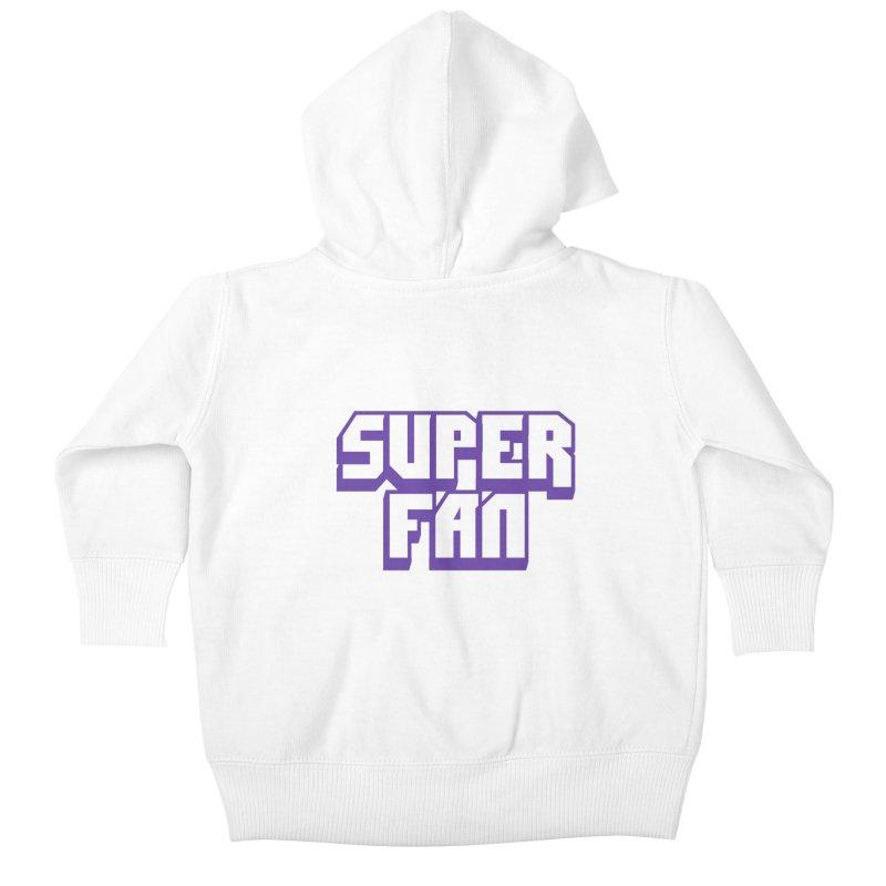 Superfan Kids Baby Zip-Up Hoody by djillusive's Artist Shop