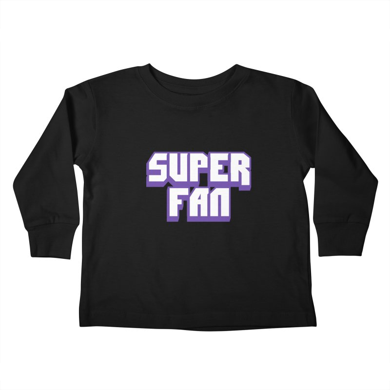 Superfan Kids Toddler Longsleeve T-Shirt by djillusive's Artist Shop