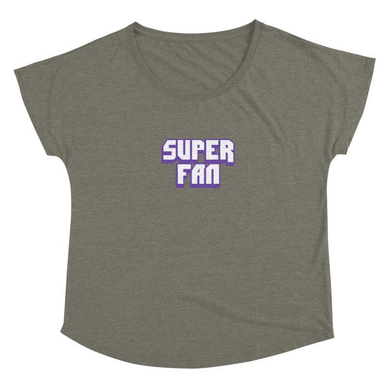 Superfan Women's Scoop Neck by djillusive's Artist Shop