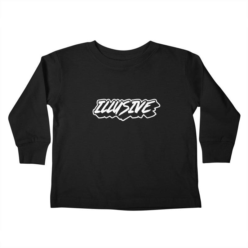 Illusive Main Logo Kids Toddler Longsleeve T-Shirt by djillusive's Artist Shop