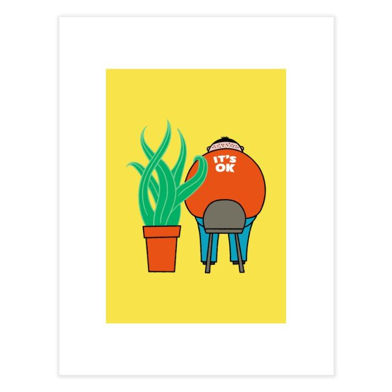 Plant Best Friend Home Fine Art Print by DKR Official Shop
