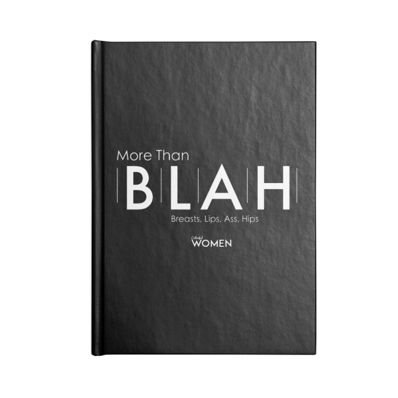 More Than BLAH Accessories Lined Journal Notebook by DMJStudio Shop