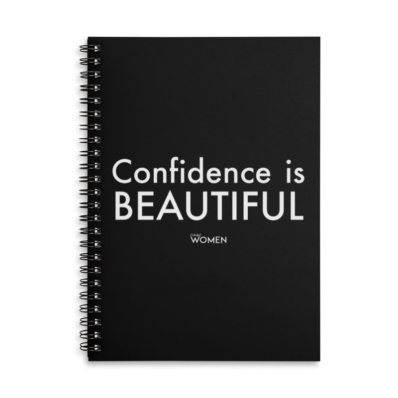 Confidence is Beautiful Accessories Lined Spiral Notebook by DMJStudio Shop