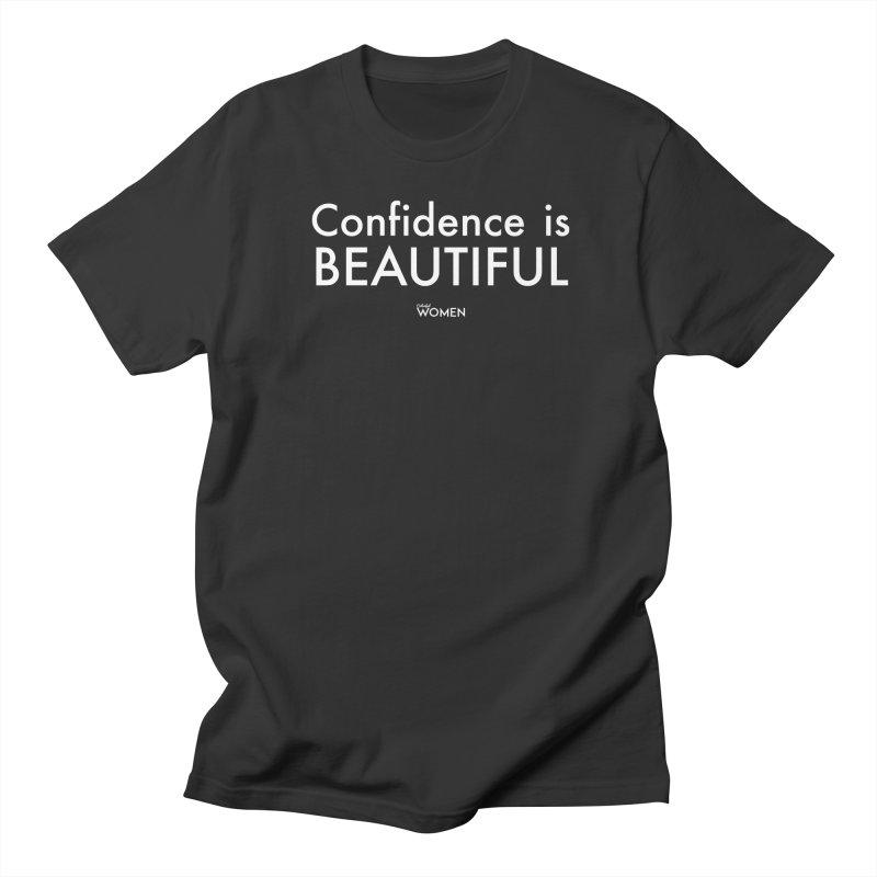 Confidence is Beautiful Men's Regular T-Shirt by DMJStudio Shop