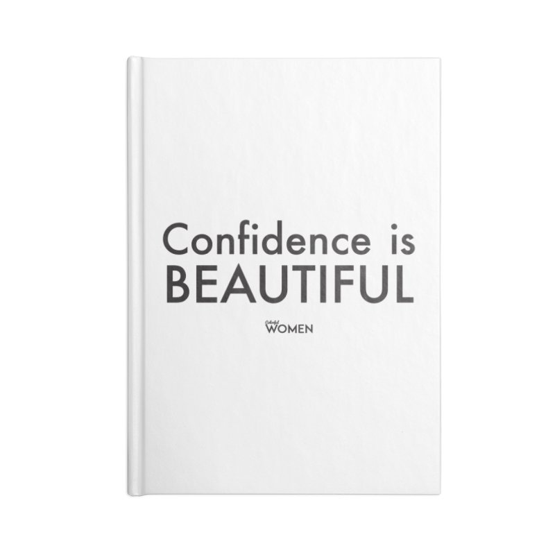 Confidence is Beautiful Accessories Blank Journal Notebook by DMJStudio Shop