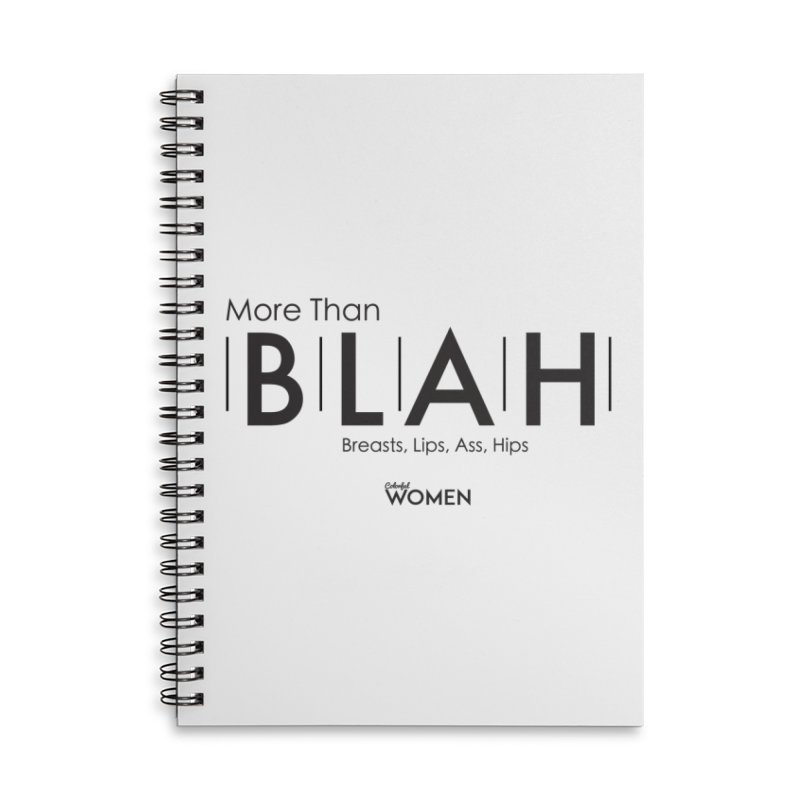 More than BLAH Accessories Lined Spiral Notebook by DMJStudio Shop