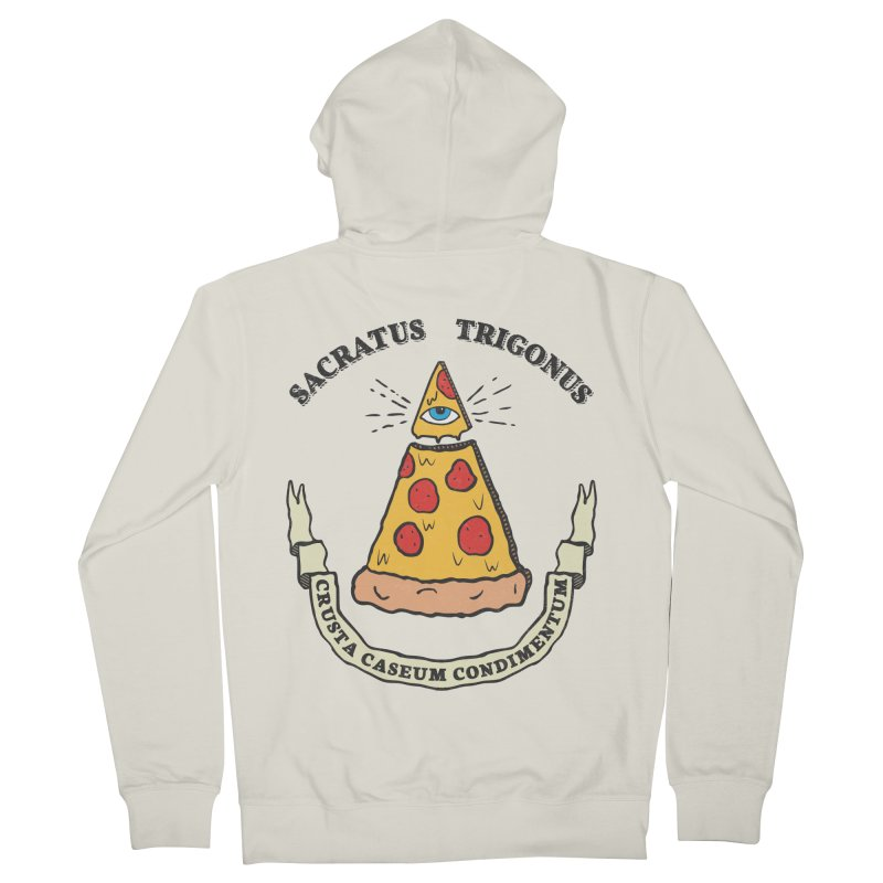 All Seeing Pie Men's French Terry Zip-Up Hoody by Wasabi Snake