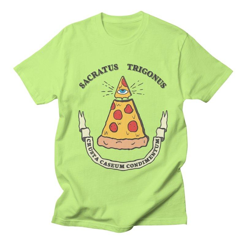 All Seeing Pie Men's Regular T-Shirt by Wasabi Snake