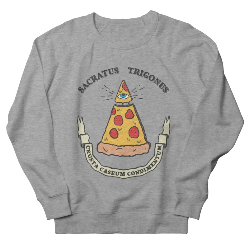 All Seeing Pie Women's French Terry Sweatshirt by Wasabi Snake