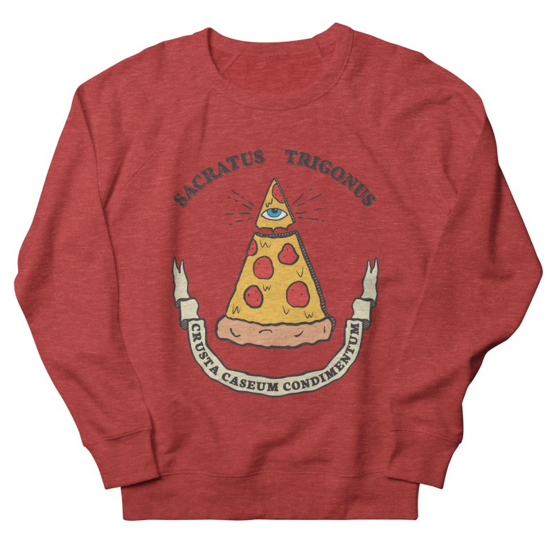 All Seeing Pie Men's French Terry Sweatshirt by Wasabi Snake