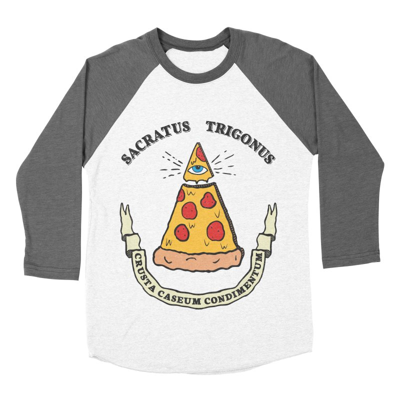 All Seeing Pie Women's Baseball Triblend Longsleeve T-Shirt by Wasabi Snake