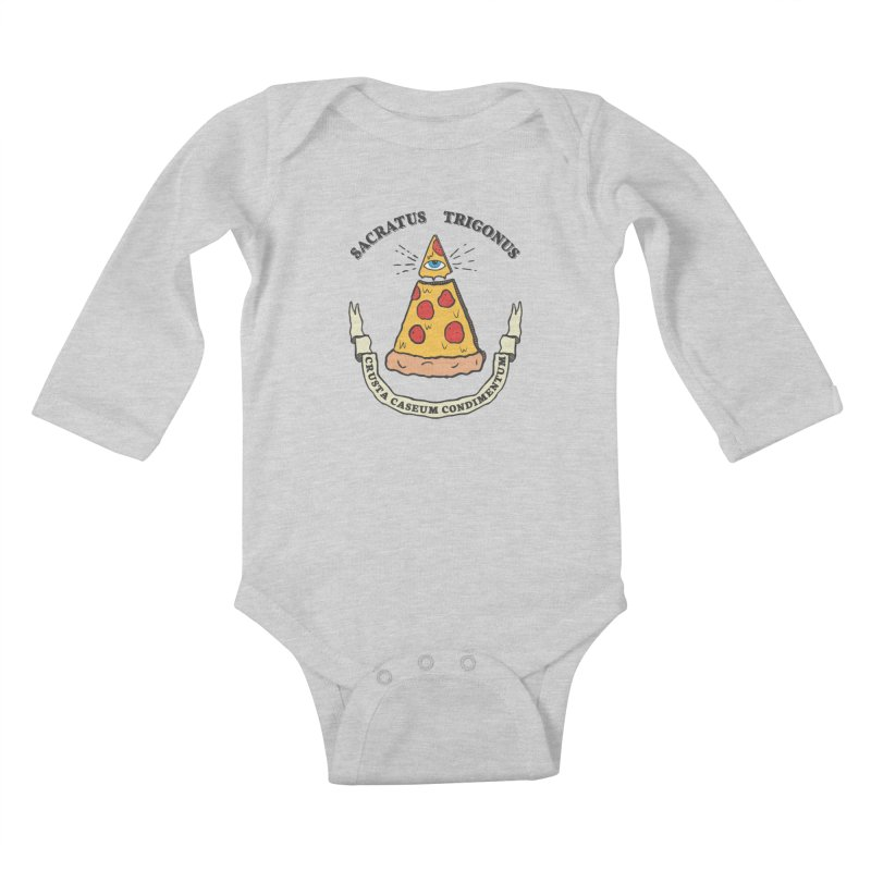 All Seeing Pie Kids Baby Longsleeve Bodysuit by Wasabi Snake