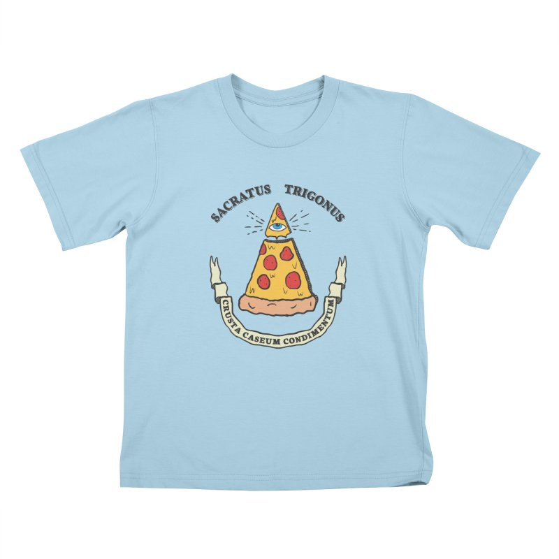 All Seeing Pie Kids T-Shirt by Wasabi Snake