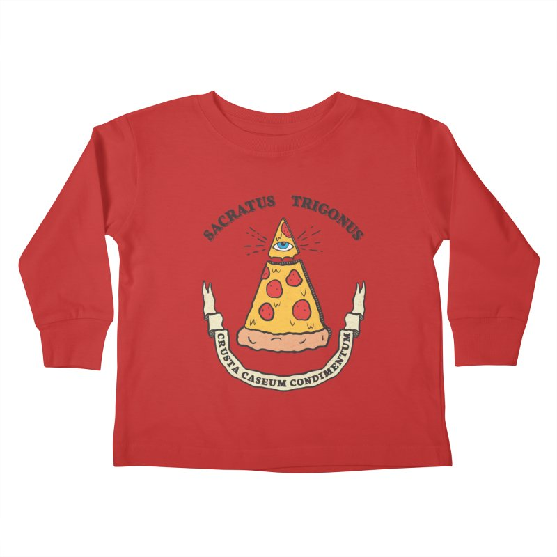 All Seeing Pie Kids Toddler Longsleeve T-Shirt by Pete Styles' Artist Shop