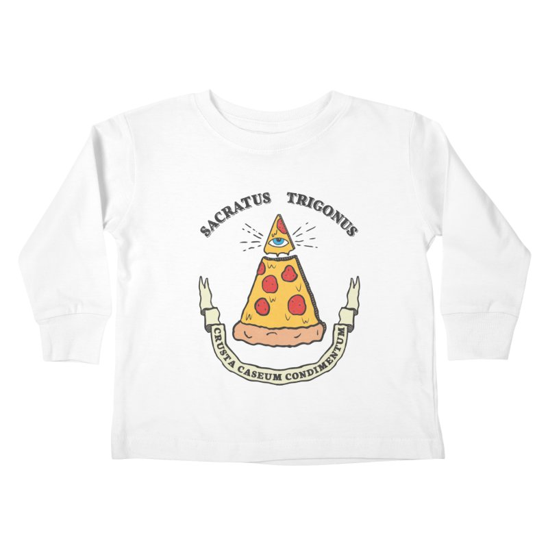 All Seeing Pie Kids Toddler Longsleeve T-Shirt by Wasabi Snake