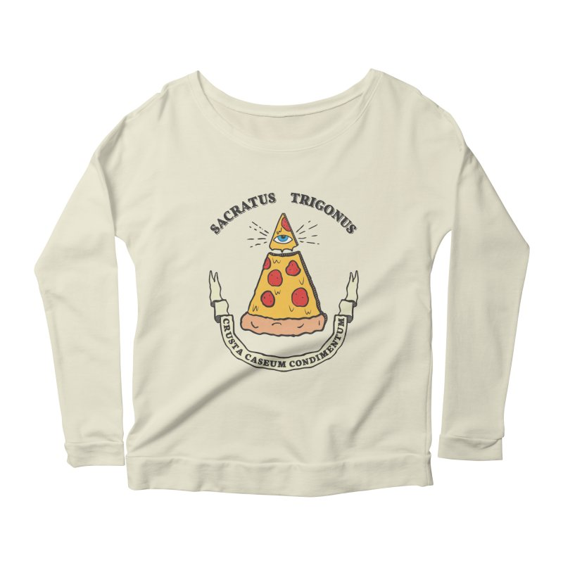 All Seeing Pie Women's Scoop Neck Longsleeve T-Shirt by Wasabi Snake