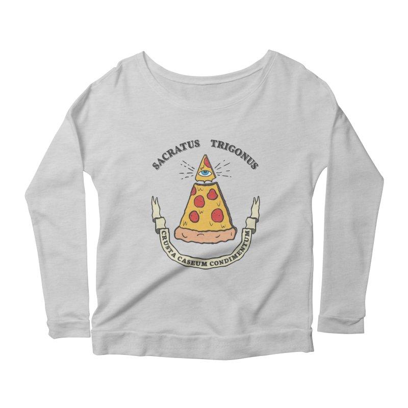 All Seeing Pie Women's Scoop Neck Longsleeve T-Shirt by Wasabi Snake
