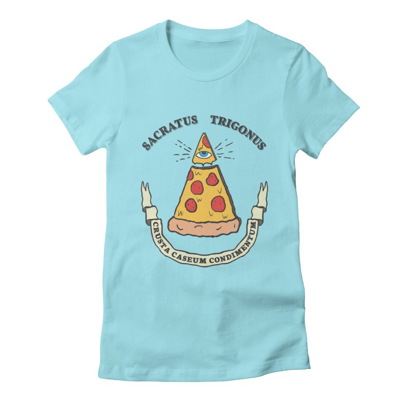 All Seeing Pie Women's Fitted T-Shirt by Wasabi Snake