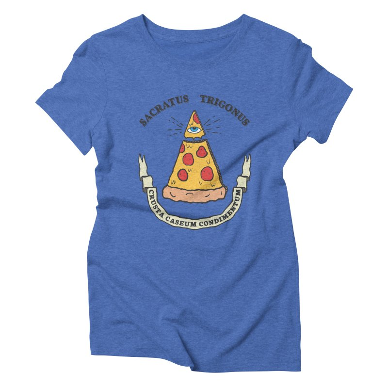 All Seeing Pie Women's Triblend T-Shirt by Wasabi Snake