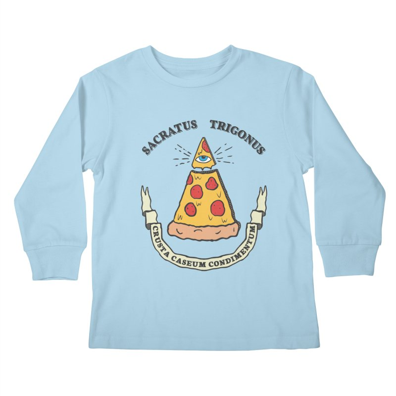 All Seeing Pie Kids Longsleeve T-Shirt by Wasabi Snake