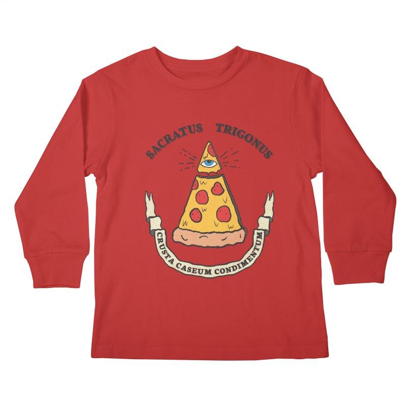 All Seeing Pie Kids Longsleeve T-Shirt by Wasabi Snake