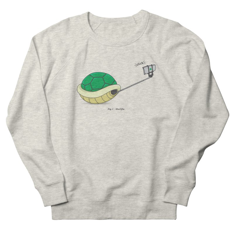 Shellfie Men's French Terry Sweatshirt by Wasabi Snake