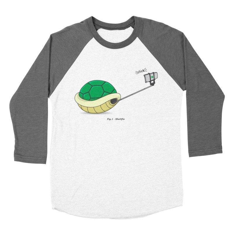 Shellfie Women's Baseball Triblend Longsleeve T-Shirt by Wasabi Snake