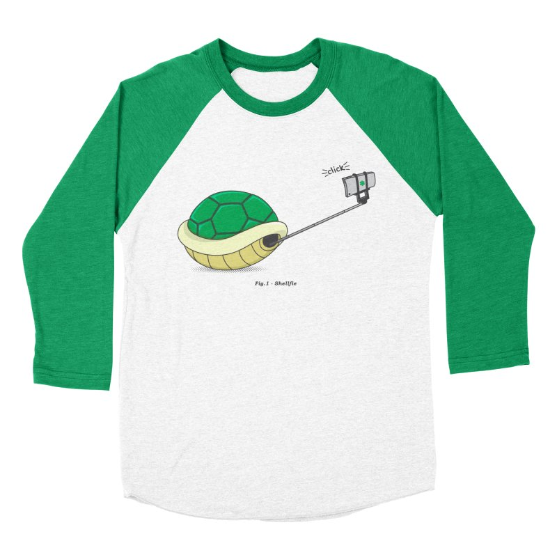 Shellfie Women's Baseball Triblend T-Shirt by Pete Styles' Artist Shop