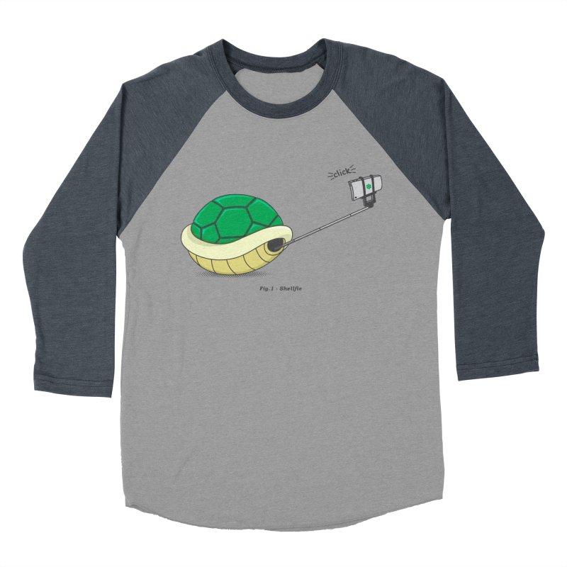 Shellfie Men's Baseball Triblend Longsleeve T-Shirt by Wasabi Snake